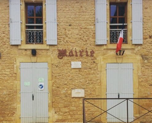 Mairie office in rural France
