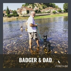 Badger and Greg in the Dordogne